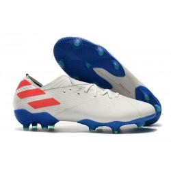 Chaussures de football adidas Nemeziz 19.1 FG Blanc Bleu Rouge