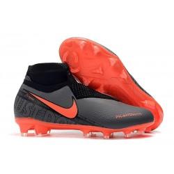 Nike Phantom Vsn Elite DF FG Crampons de Foot - Noir Cramoisi