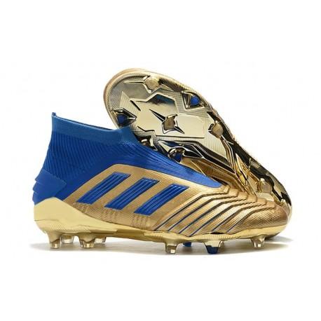 adidas Predator 19+ FG Nouvelles Crampons Or Bleu