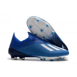 Chaussures de football adidas X 19+ Terrain Sec Bleu Blanc