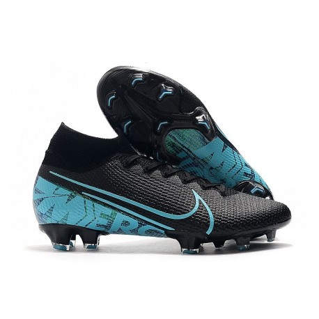 Nike Mercurial Superfly VII Elite 360 FG Noir Bleu