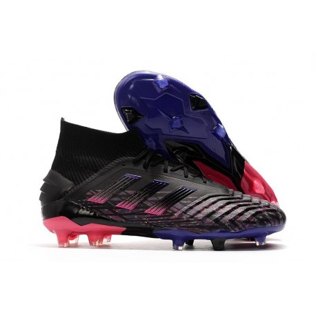 adidas Predator 19+ FG Nouvelles Crampons Noir Rose Bleu