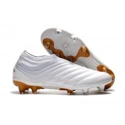 Chaussures Nouveaux adidas Copa 19+ FG Blanc Or