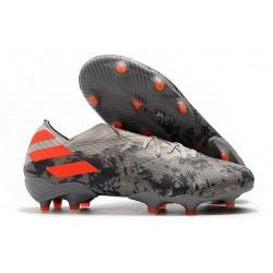 Chaussures de football adidas Nemeziz 19.1 FG Gris/Orange solaire/Craie