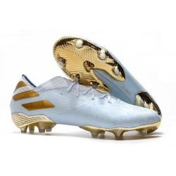 Chaussures de football adidas Nemeziz 19.1 FG Bold Aqua/Or/Blanc